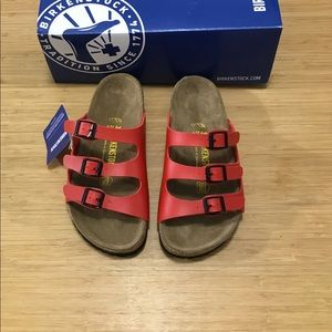 58dcd5d762f Birkenstock Shoes - SALE 🌺Birkenstock Florida Birko-Flor Red 🌺